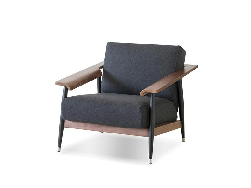 Mobital Wakefield Grey Occasional Chair LCHWAKEGREYWALNU Occasional Chairs Mobital