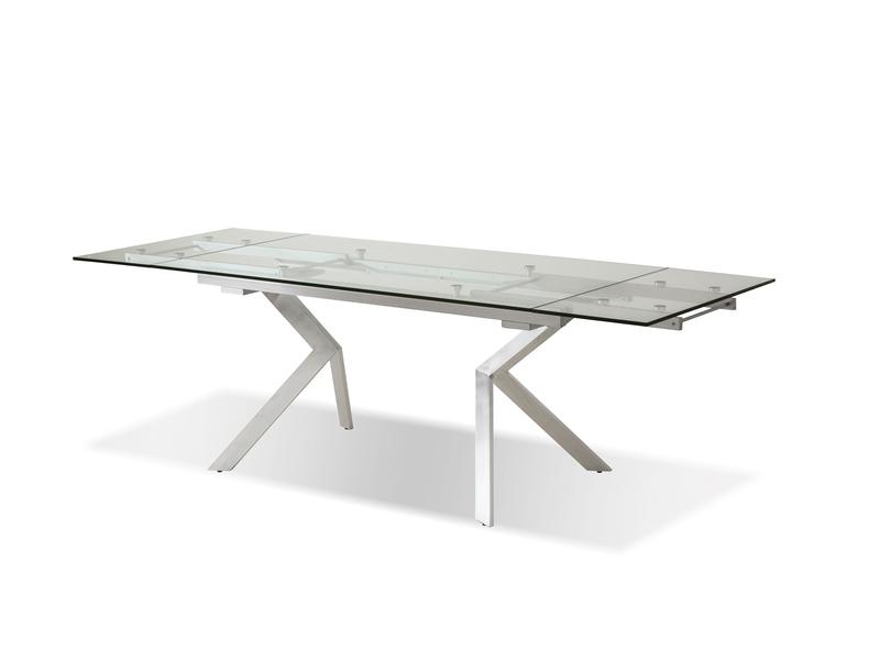 Mobital Atwood Brushed Steel Dining Table DTAATWOCLEABRUSH Dining Tables Mobital