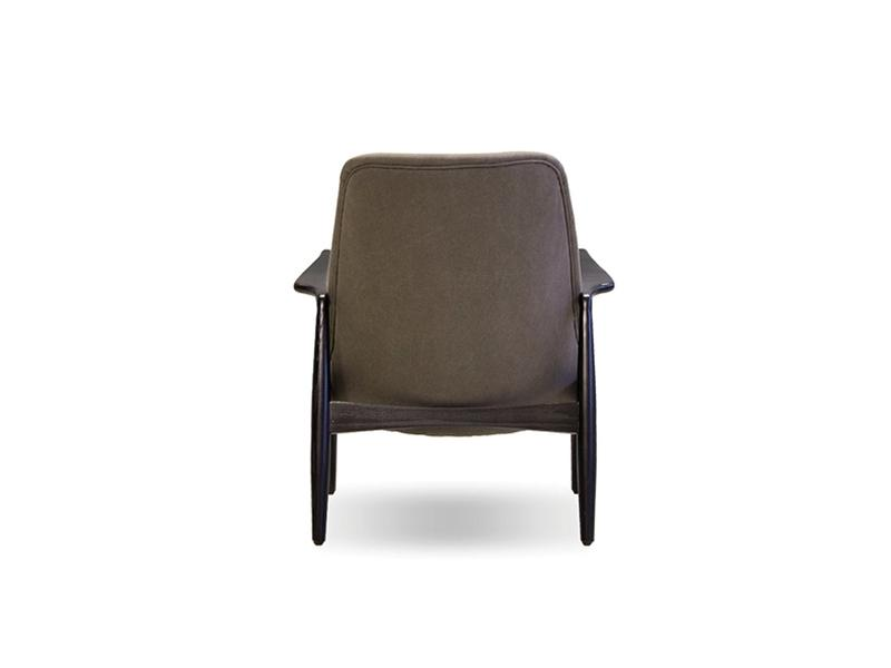 Mobital Reynolds Antique Black Occasional Chair LCHREYNBLACGREY Occasional Chairs Mobital