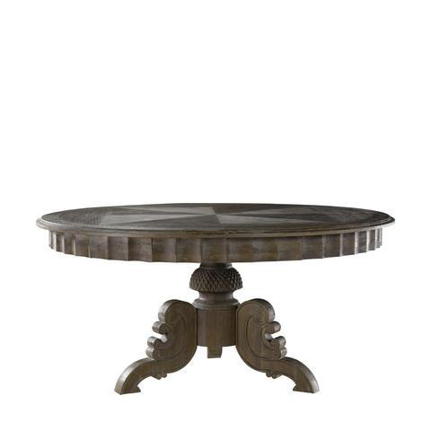 "Curations Limited French Round Table French Round Table Curations Limited 63"" Weathered Gray Oak"