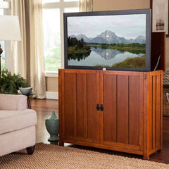 Touchstone Elevate - Mission Oak TV Lift Cabinet 72006