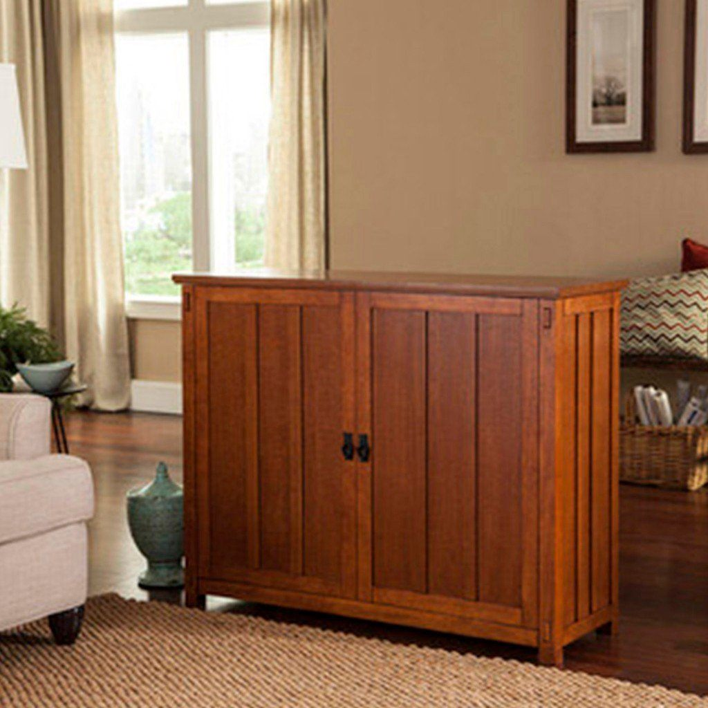 Touchstone Elevate - Mission Oak TV Lift Cabinet 72006 TV Lift Cabinets Touchstone