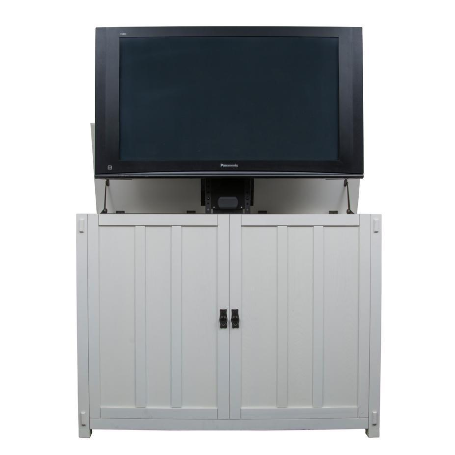Touchstone Elevate - Mission White TV Lift Cabinet 72013 TV Lift Cabinets Touchstone