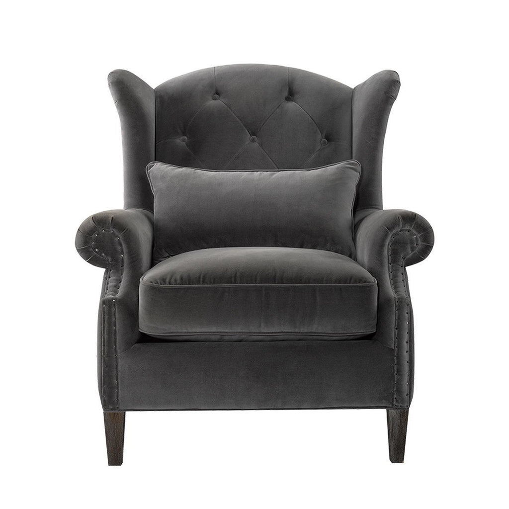 Curations Limited Lauran Velvet Arm Chair 7841.0010 Chair Curations Limited