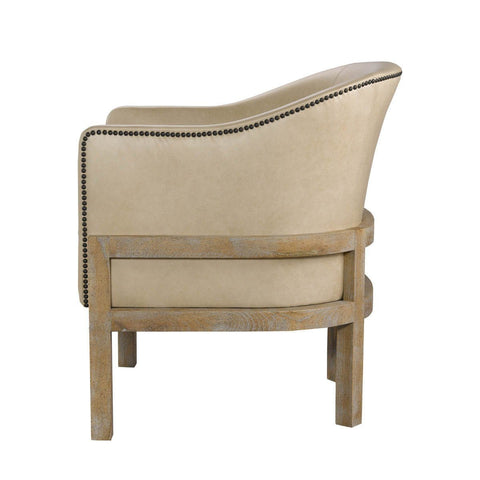 Curations Limited Lucerne Granite Leather Arm Chair 7841.0032 Chair Curations Limited