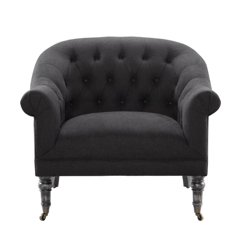 Curations Limited Reims Black Arm Chair 7841.0034.A887 Chair Curations Limited