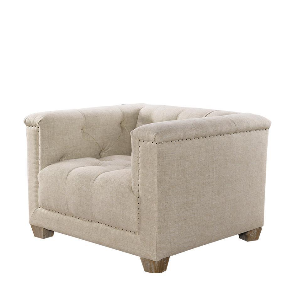 Curations Limited Bergamo Linen Arm Chair 7841.0035.A015 Chair Curations Limited