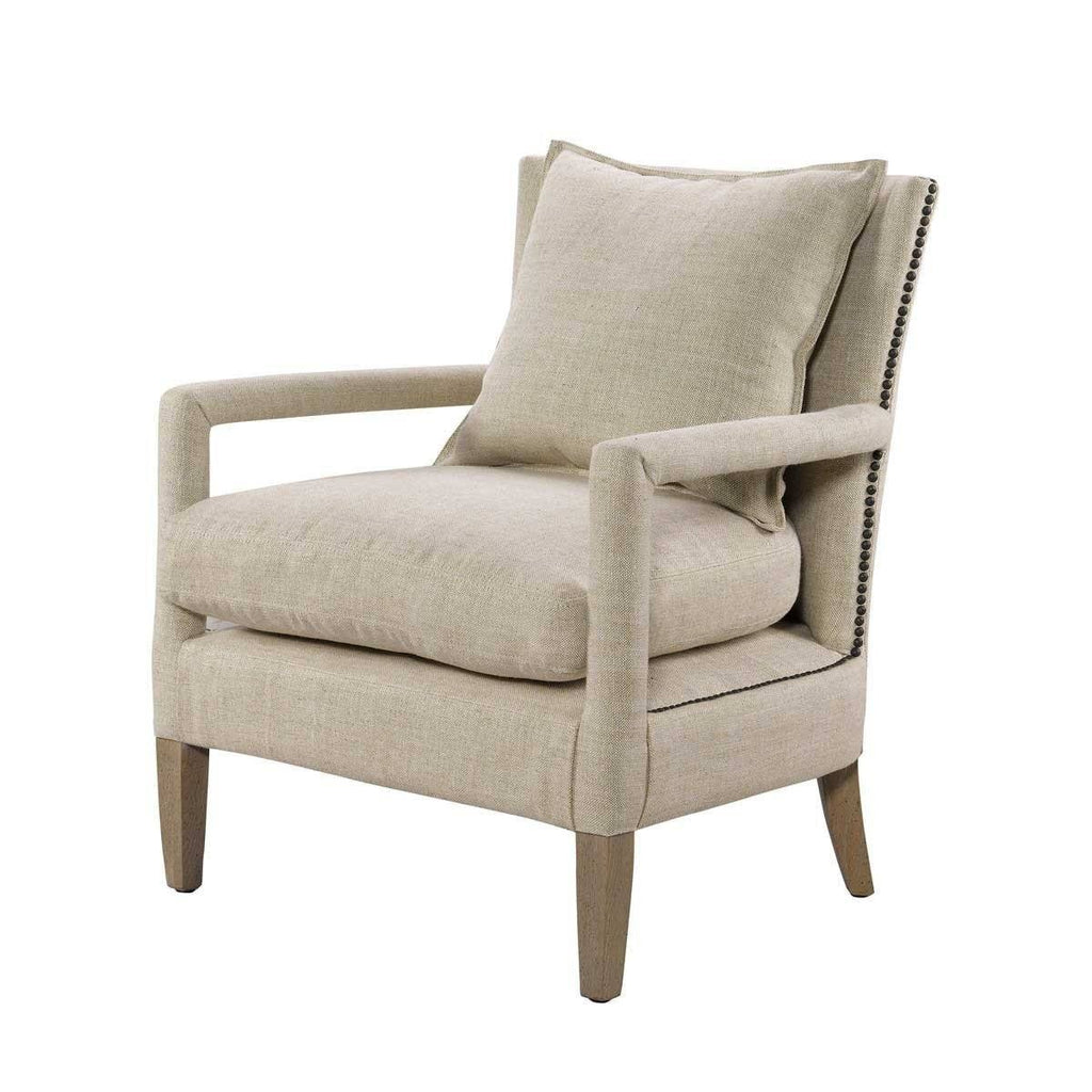 Curations Limited Vichy Linen Chair 7841.0038.A015 Chair Curations Limited