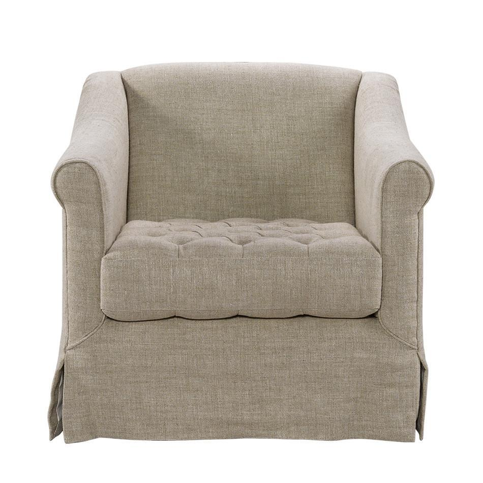 Curations Limited Brussels Linen Arm Chair 7841.0046.A015 Chair Curations Limited
