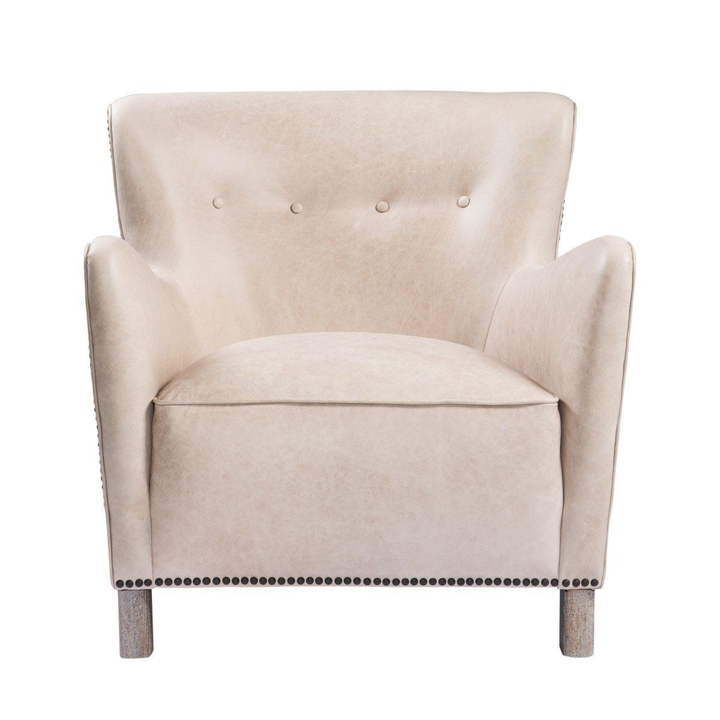 Curations Limited Savona Granite Leather Arm Chair 7841.0048.GNL Chair Curations Limited