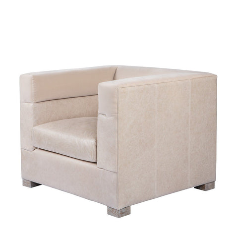 Curations Limited Modena Granite Leather Arm Chair 7841.0049 Chair Curations Limited