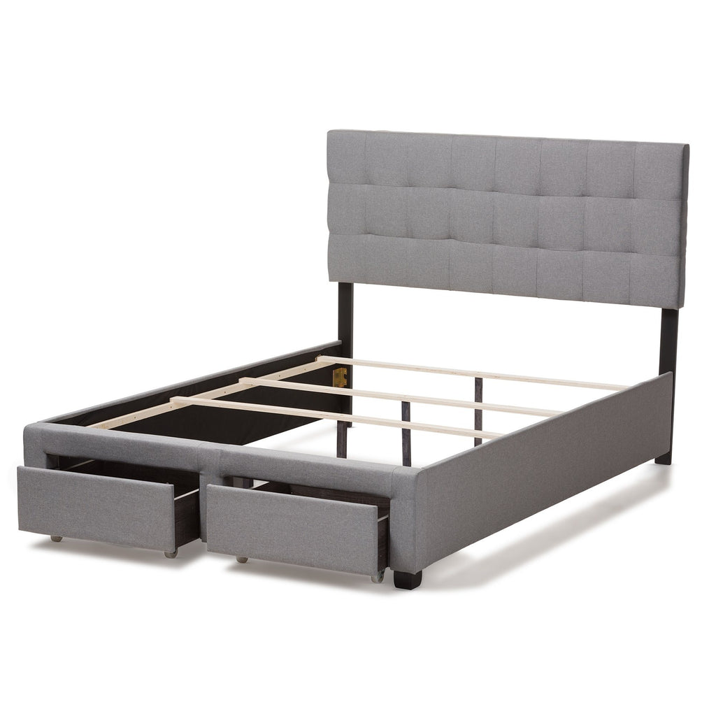Baxton Studio Tibault Modern And Contemporary Bed WA8028-Gray Beds Baxton Studio