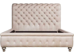 Curations Limited Buckingham Leather Tufted Bed 5307K.GNL