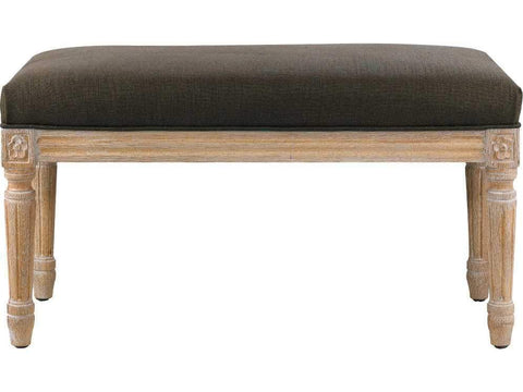 Curations Limited French Smaller Linen Bench 7801.0007.A008 Benches Curations Limited