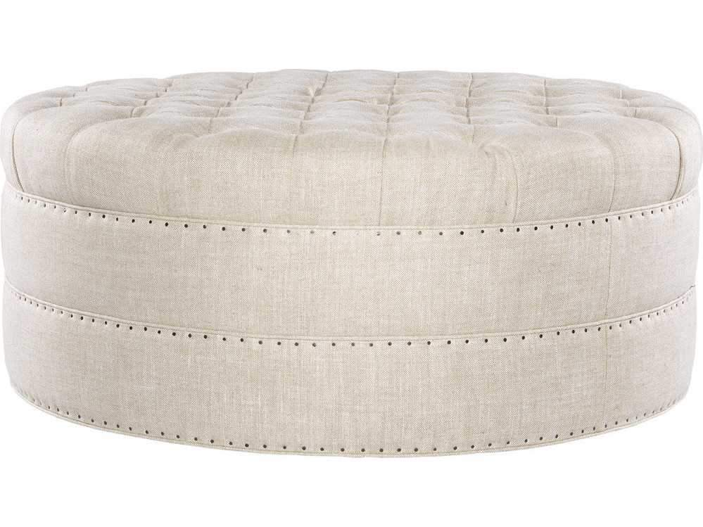 Curations Limited Grand Round Tufted Ottoman 7801.1107 Ottoman Curations Limited