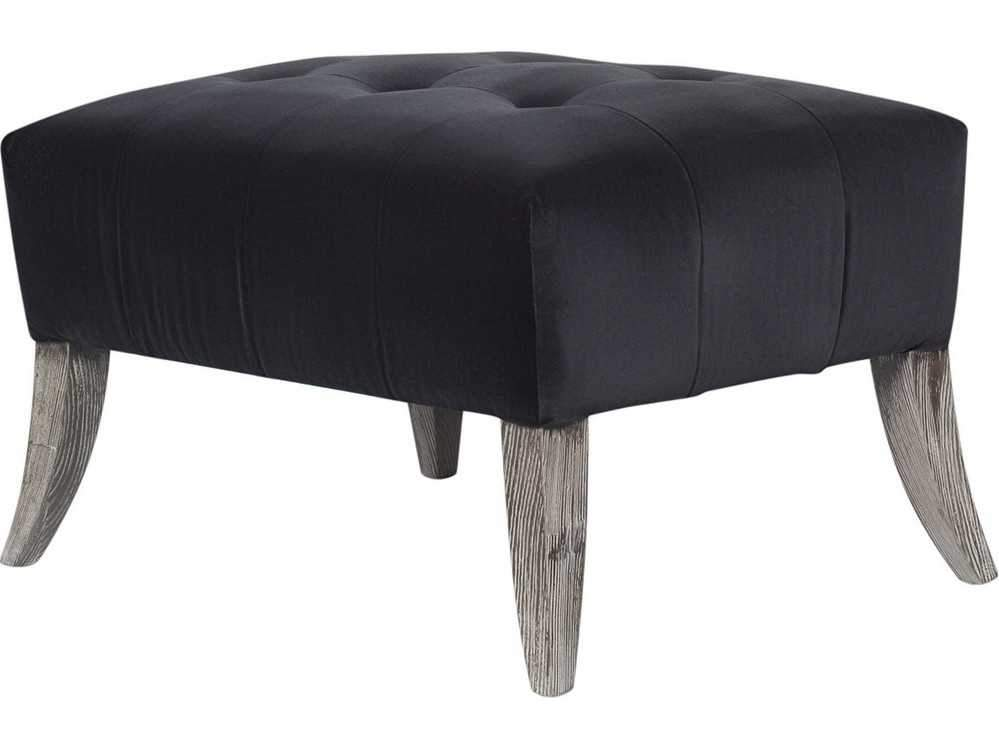 Curations Limited Parisian Velvet Ottoman 7801.3001 Ottoman Curations Limited