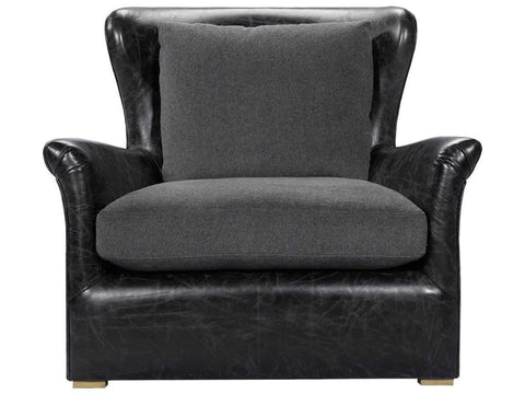 Curations Limited Winslow Slate Leather Lounge Chair 7841.3108 Sofas Curations Limited