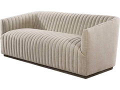 Curations Limited Sete Strip Linen Sofa 7842.0044.A015