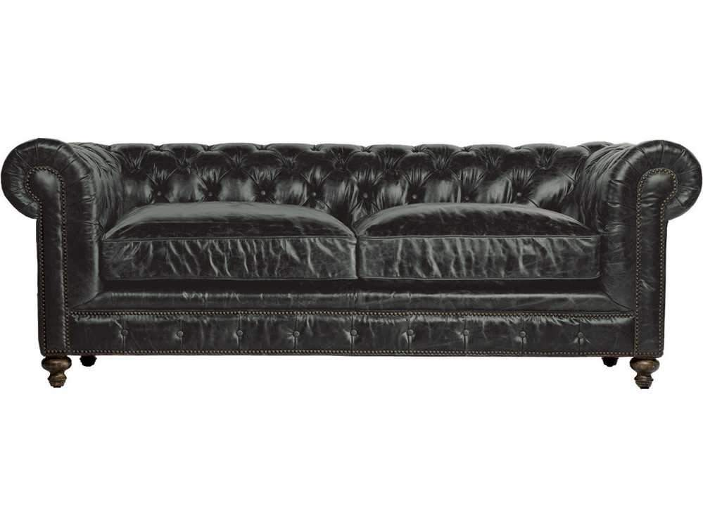 "Curations Limited 90"" Cigar Club Leather Sofa 7842.3009.2 Sofas Curations Limited"