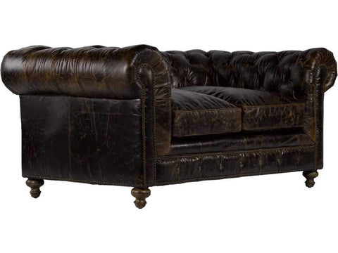 "Curations Limited 77"" Cigar Club Leather Sofa 7842.3010.1 Sofas Curations Limited"