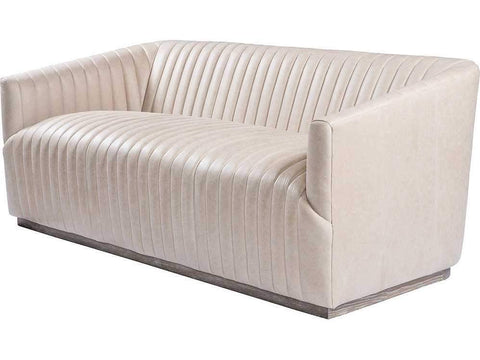 Curations Limited Sete Strip Granite Leather Sofa 7842.3044.GNL Sofas Curations Limited
