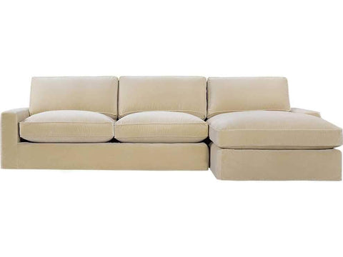 Curations Limited Mons Velvet Upholstered Raf Sectional Chaise Sofa 7843.0010.RAF Sofas Curations Limited