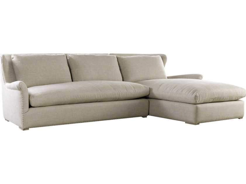 Curations Limited Winslow Sectional Beige Linen Sofa 7843.3101.RAF Sofas Curations Limited