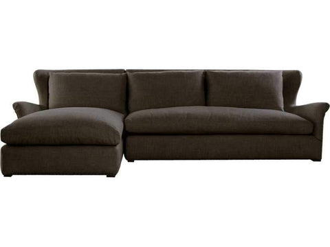 Curations Limited Winslow Sectional Brown Linen Sofa 7843.3102.LAF Sofas Curations Limited
