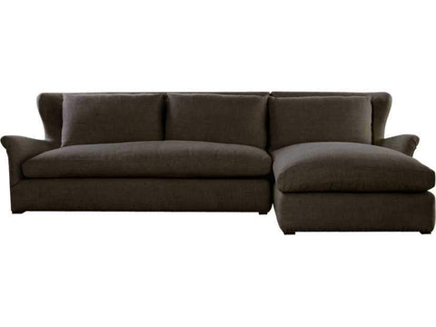 Curations Limited Winslow Sectional Brown Linen Sofa 7843.3102.RAF Sofas Curations Limited