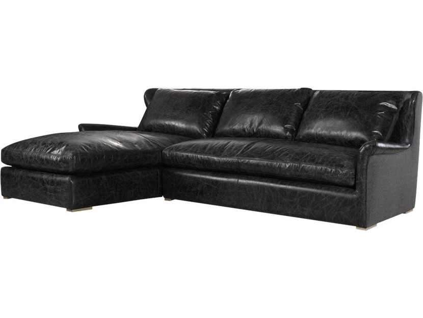 Curations Limited Winslow Sectional Slate Leather Sofa 7843.3104.LAF Sofas Curations Limited