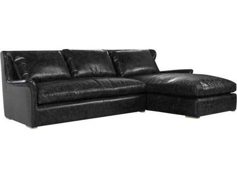 Curations Limited Winslow Sectional Slate Leather Sofa 7843.3104.RAF Sofas Curations Limited