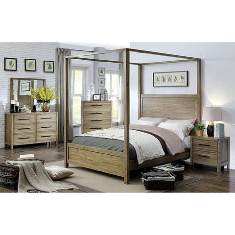 Furniture of America Garland Canopy Bed IDF-7355 Canopy Bed Furniture of America