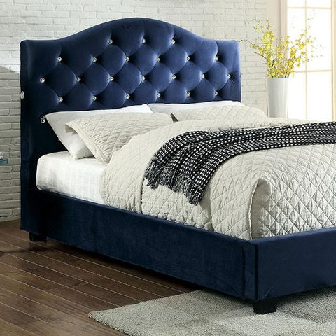 Furniture of America Cressida Platform Bed IDF-7421NV-CK Platform Bed Furniture of America