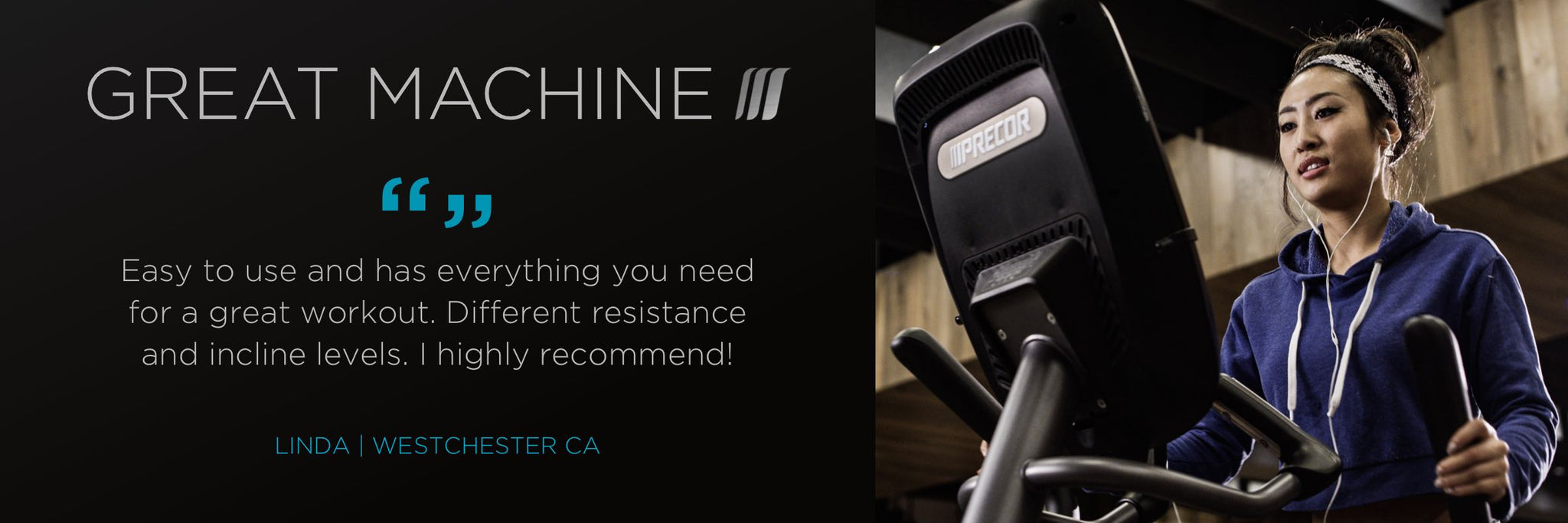 Precor elliptical machine easy to use resistance levels and incline