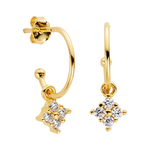Coco Gold Charm Hoop Earrings - Shop Cameo Ltd