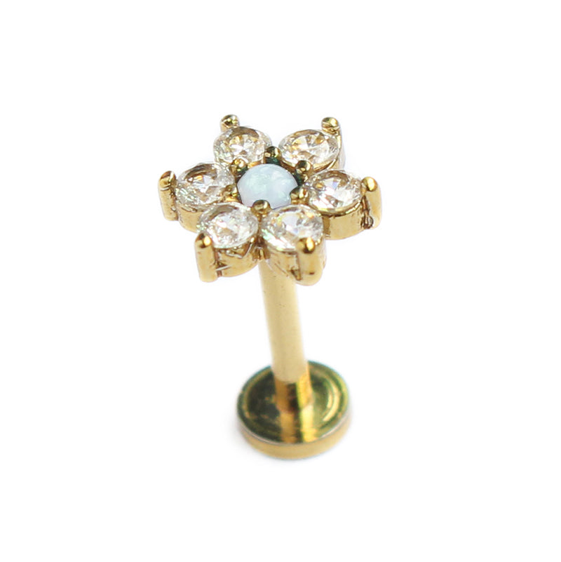 gold cartilage jewelry jewellery flower
