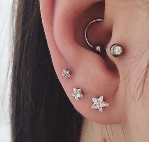 Silver Star Stud Set