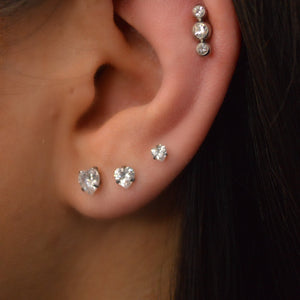 Silver Heart Stud Set - Shop Cameo Ltd