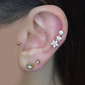Gold Cartilage Stud Set - Shop Cameo Ltd