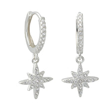 Marilyn Stardrop Hoops Silver - Shop Cameo Ltd