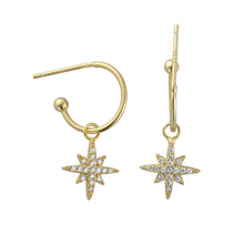 Audrey Gold Stardrop Hoops - Shop Cameo Ltd