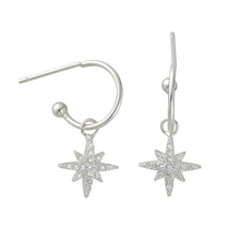 Audrey Silver Stardrop Hoops - Shop Cameo Ltd