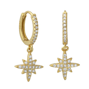 Marilyn Stardrop Hoops Gold - Shop Cameo Ltd