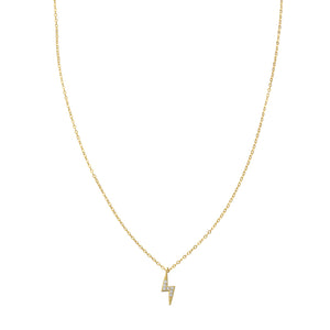 Betsey Lightning Bolt Necklace Gold - Shop Cameo Ltd