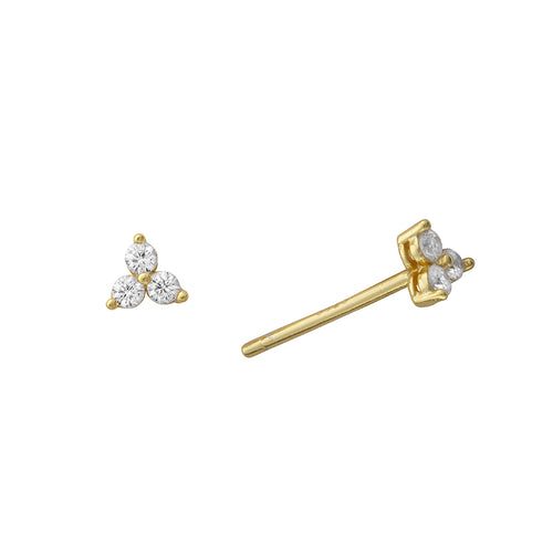 Tara Tiny Gem Studs Gold - Shop Cameo Ltd