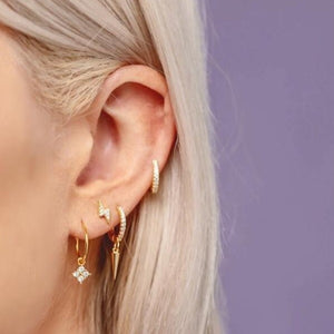 Donatella Gold Huggie Earrings - Shop Cameo Ltd