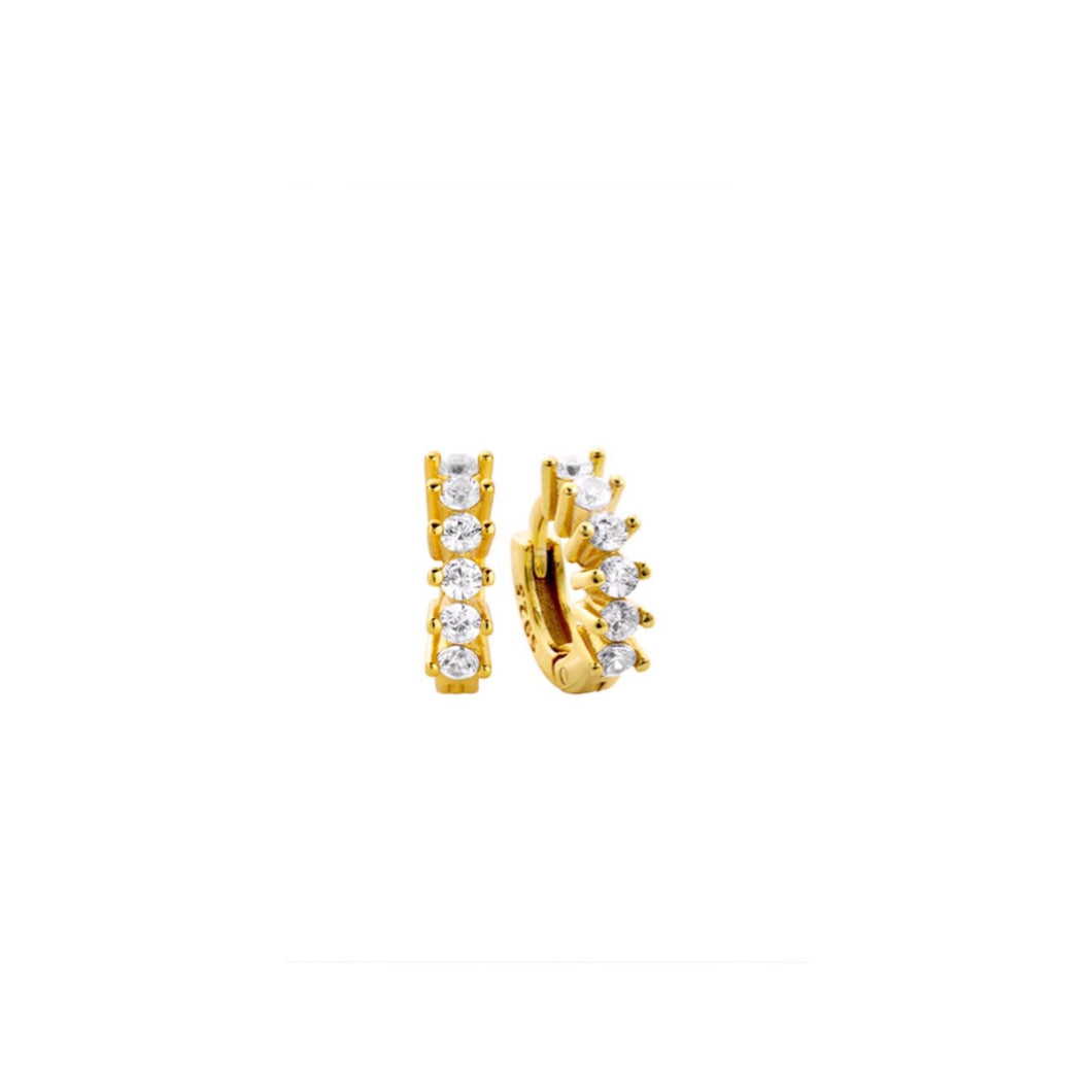 Minnie Gold Huggie Earrings