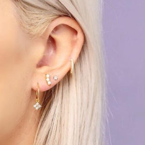 Coco Gold Charm Hoop Earrings