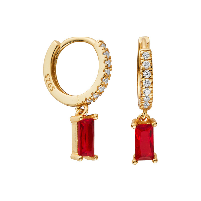 Ruby Gold Hoop Earrings - Shop Cameo Ltd