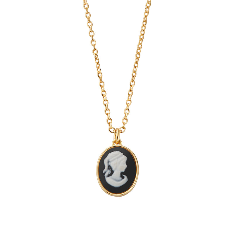 Penelope Gold Cameo Necklace - Shop Cameo Ltd